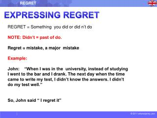 EXPRESSING REGRET