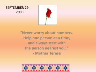 SEPTEMBER 29, 2008
