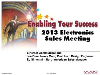 Ethernet Communications: Joe Breedlove – Moog Protokraft Design Engineer