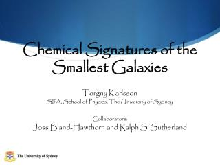 Chemical  Signatures  of the  Smallest  Galaxies