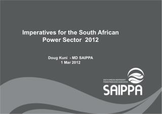 Imperatives for the South African Power Sector  2012