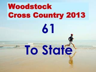 Woodstock Cross Country 2013