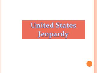 United States Jeopardy
