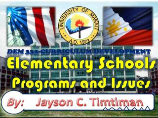 Elementary Schools Programs and Issues
