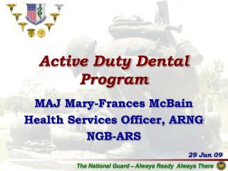 Active Duty Dental Program