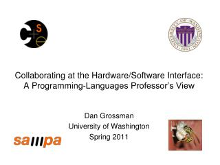 Collaborating at the Hardware/Software Interface: A Programming-Languages Professor's View