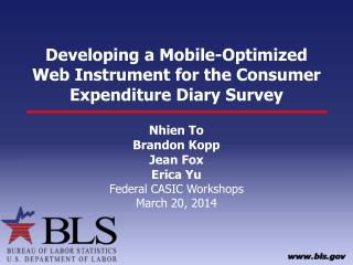 Developing a Mobile-Optimized Web Instrument for the Consumer Expenditure Diary Survey