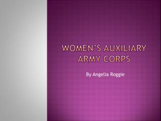 Women's Auxiliary Army Corps