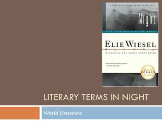 Literary Terms in Night