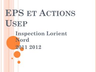EPS et Actions Usep