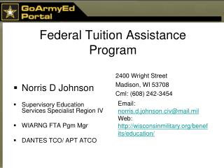 Federal Tuition Assistance Program