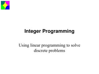 Integer Programming