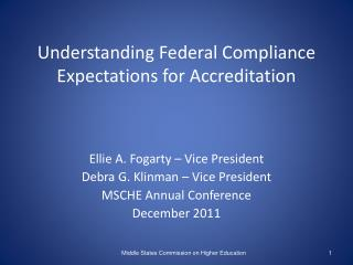 Understanding Federal Compliance Expectations for Accreditation