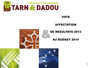 VOTE AFFECTATION DE RESULTATS  2013 AU BUDGET  2014