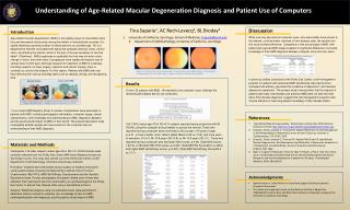 Understanding of Age-Related Macular Degeneration Diagnosis and Patient Use of  Computers