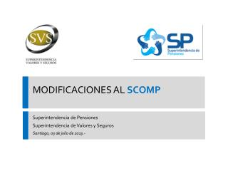 MODIFICACIONES AL  SCOMP