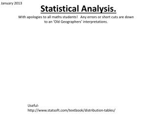 Statistical Analysis.