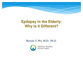 Epilepsy in the Elderly:  Why is it Different?