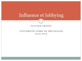 Influence et lobbying