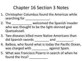 Chapter 16 Section 3 Notes
