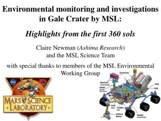 Overview of MSL's environmental instrument suite