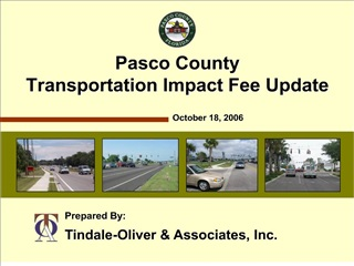 Pasco County Transportation Impact Fee Update