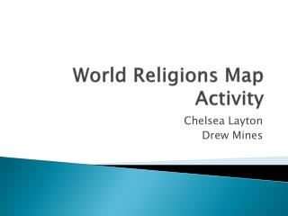 World Religions Map Activity