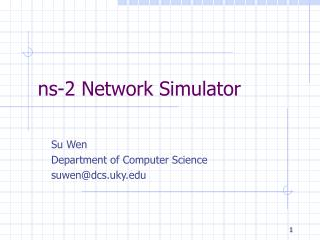 ns-2 Network Simulator