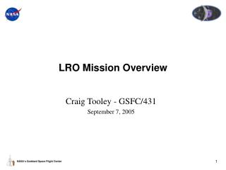 LRO Mission Overview
