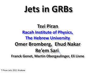 Jets in GRBs