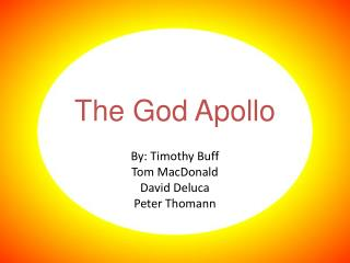 The God Apollo