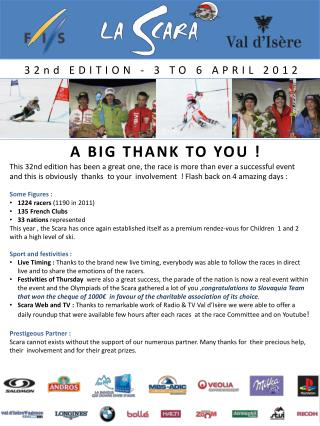 32nd EDITION  - 3 TO 6 APRIL 2012