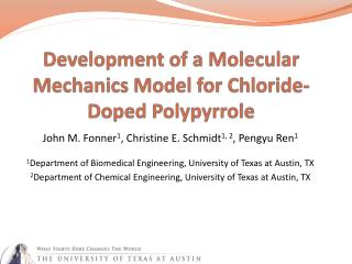 Development of a Molecular Mechanics Model for Chloride-Doped  Polypyrrole