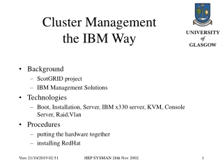 Cluster Management the IBM Way