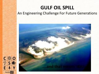 GULF OIL SPILL  An Engineering Challenge For Future Generations