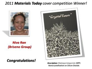 2011  Materials Today  cover  competition Winner!