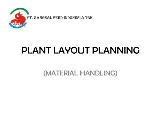 PLANT LAYOUT PLANNING