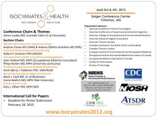 International Call for Papers Deadline for  Poster  Submission February 18, 2013