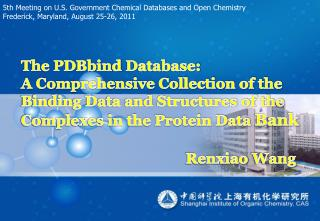 5th Meeting on U.S. Government Chemical Databases and Open Chemistry