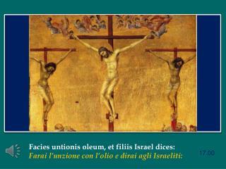 Facies untionis oleum , et  filiis  Israel dices: