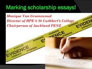 Marking scholarship essays!
