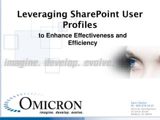 Leveraging SharePoint User  Profiles
