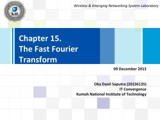 Chapter 15. The Fast Fourier Transform