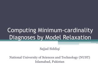Computing Minimum-cardinality Diagnoses by Model Relaxation