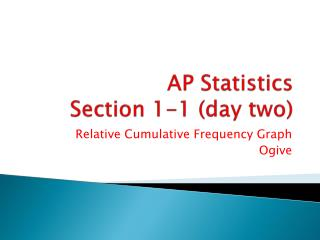 AP Statistics Section 1-1 (day two)