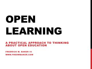 Open Learning