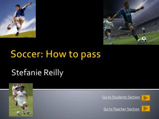 Soccer: How to pass