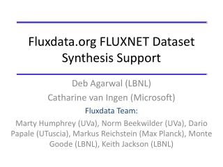 Fluxdata.org  FLUXNET Dataset Synthesis Support
