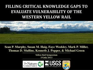 FILLING CRITICAL KNOWLEDGE GAPS TO EVALUATE VULNERABILITY OF THE WESTERN YELLOW RAIL