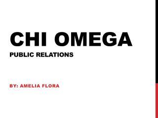 Chi omega public relations
